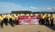 Dalam rangka menyambut Hari Bhayangkara ke-75 Ditpolairud Polda Bali menggelar Bakti Sosial Bersih Pantai Serentak