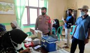Gelar Vaksinasi massal Pemdes Sipayung di pantau langsung Kapospol Sukajaya